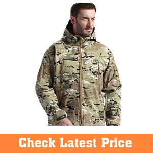 FREE-SOLDIER-Mens-Jackets-Outdoor-Waterproof-Softshell-Hooded-Tactical-Jacket
